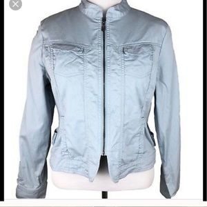 CAbi light blue Dobby utility jacket up size XL
